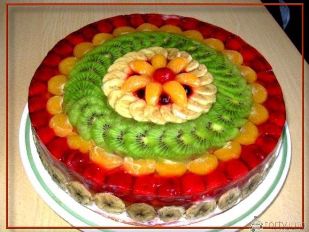 Как сделать торт из крема и фруктов