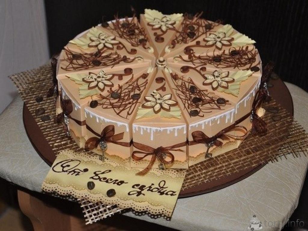 Торт из бумаги на день рождения своими руками фото