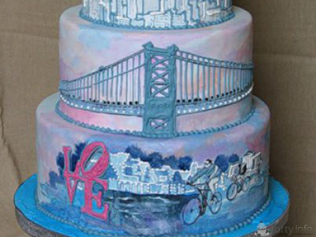Торт как город фото